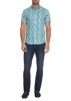 Robert Graham Men's Fuller Flower-Print Sport Shirt