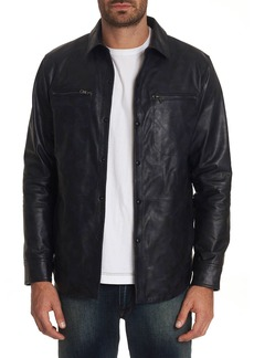 Robert Graham Men's Gable Lambskin Leather Shirt Jacket