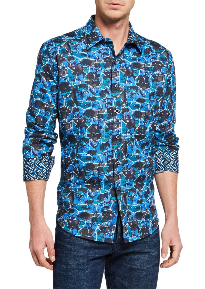Robert Graham Men's Gaston Printed Long-Sleeve Sport Shirt