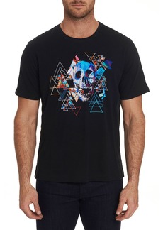 Robert Graham Men's Geo Skull Graphic Crewneck T-Shirt