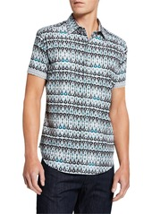 Robert Graham Men's Gernway Printed Sport Shirt