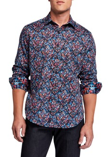 Robert Graham Men's Gothard Abstract Long-Sleeve Sport Shirt