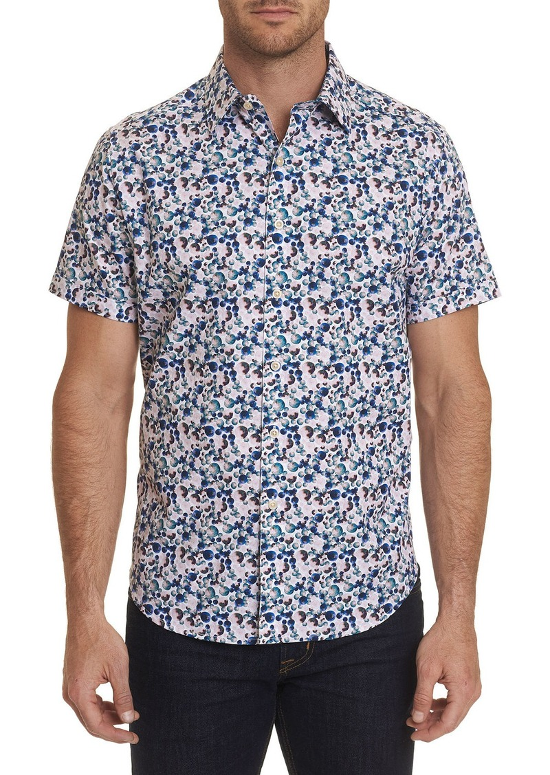 Robert Graham Men's Gould Watercolor Bubble Print Sport Shirt
