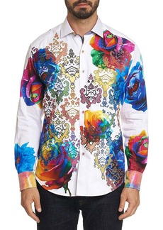 Robert Graham Men's Graphic Print Long-Sleeve Sport Shirt