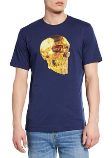 Robert Graham Men's Gunpowder Skull Cotton T-Shirt
