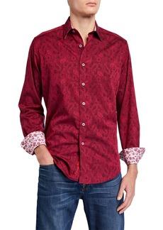 Robert Graham Men's Hanging Gardens Long-Sleeve  Woven Shirt