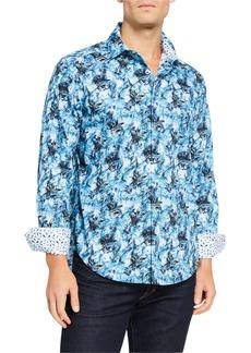 Robert Graham Men's Harrogate Abstract Long-Sleeve Sport Shirt