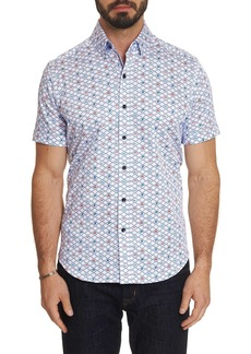 Men's Hat Trick Short Sleeve Shirt Size: S by Robert Graham