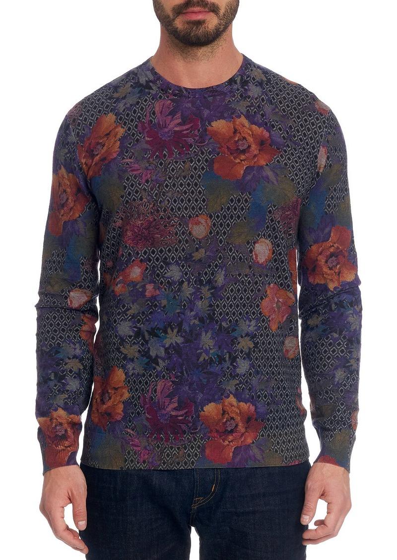 Robert Graham Men's Hawkeye Floral Linen-Cotton T-Shirt