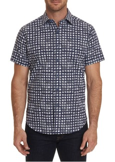 Robert Graham Men's Hedden Tile Print Sport Shirt