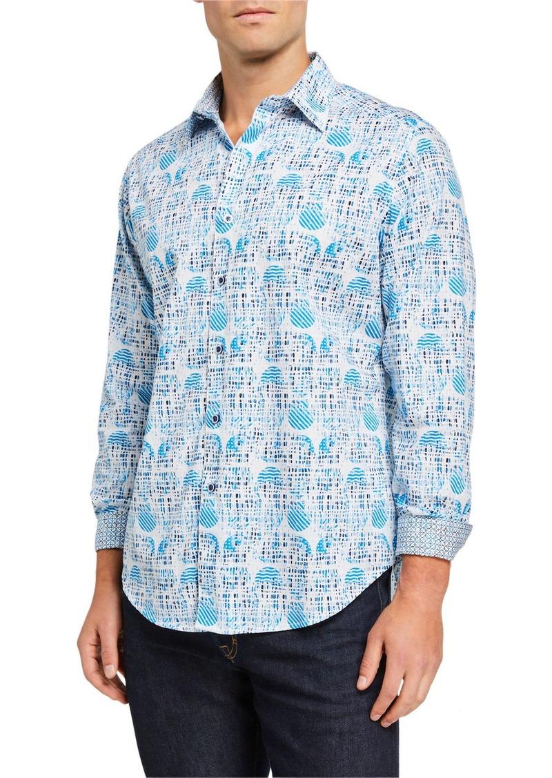 Robert Graham Men's Ivey Abstract Long-Sleeve Sport Shirt