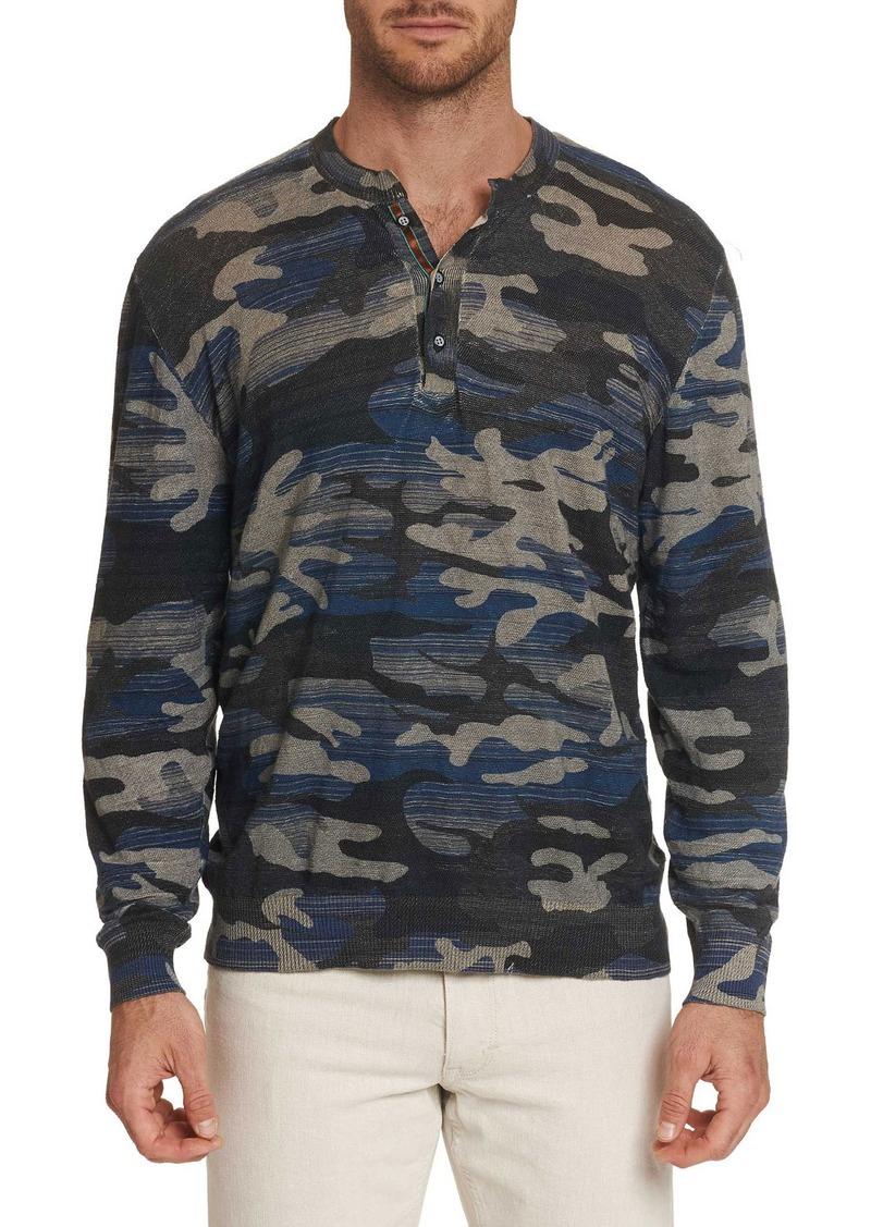 Robert Graham Men's Jaxen Long-Sleeve Henley T-Shirt