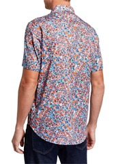 Robert Graham Men's Kabuki Short-Sleeve Multicolor Shirt