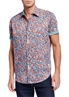 Robert Graham Men's Kabuki Short-Sleeve Multicolor Shirt