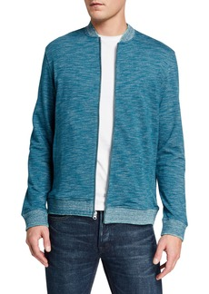 Robert Graham Men's Kaison Space-Dye Zip-Front Sweater  Extended Sizes