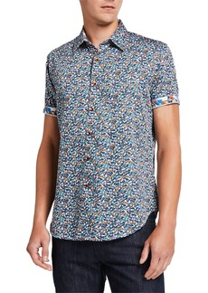 Robert Graham Men's Kenyon Sunglasses Short-Sleeve Button-Down Shirt