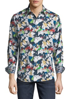Robert Graham Men's Kinslowe Mosaic Sport Shirt