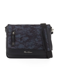 Robert Graham Men's Larkman Mixed Media Messenger Bag