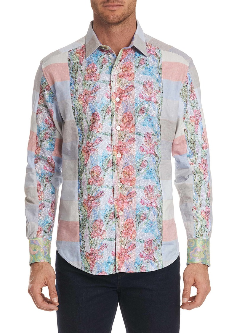 Men's Limited Edition Denim Rays Sport Shirt Size: L by Robert Graham