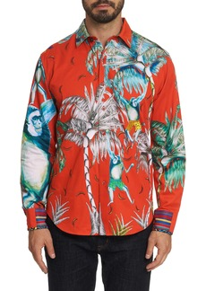 Men's Limited Edition Monkeying Around Sport Shirt Size: S by Robert Graham