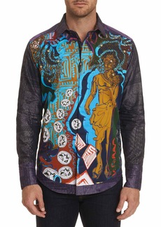 Men's Limited Edition The Conyack Embroidered Sport Shirt Size: XS by Robert Graham