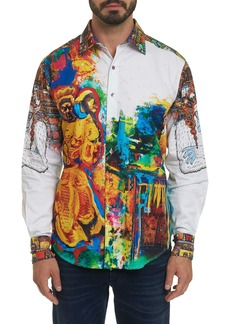 Men's Limited Edition The Yaki Warrior Sport Shirt Size: L by Robert Graham