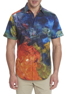 Men's Mabson Short Sleeve Shirt Size: S by Robert Graham