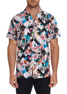 Men's Mestor Short Sleeve Shirt Size: S by Robert Graham