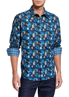Robert Graham Men's Mixed Company Long Sleeve Sport Shirt