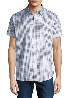 Robert Graham Men's  Morales Check-Print Short-Sleeve Sport Shirt