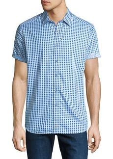Robert Graham Men's  Morales Check-Print Short-Sleeve Sport Shirt