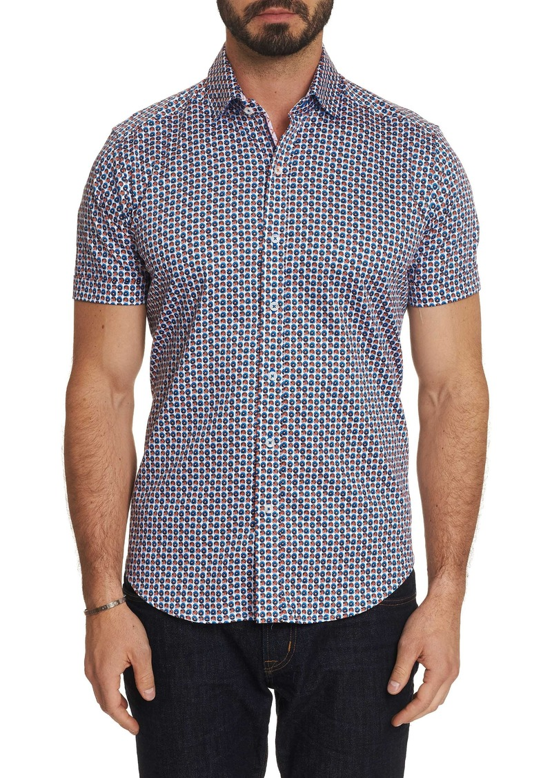Men's Myron Short Sleeve Shirt Size: XS by Robert Graham