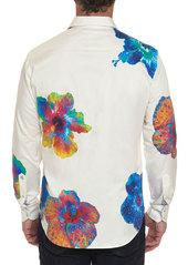 Robert Graham Men's Nyali Graphic Floral-Print Sport Shirt