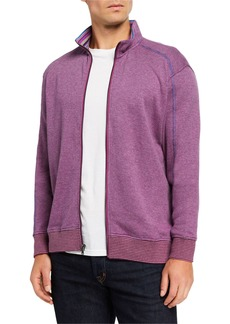 Robert Graham Men's Osborne Zip-Front Knit Sweater