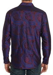 Robert Graham Men's Paisley Park Patterned Sport Shirt with Contrast Detail