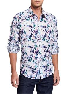 Robert Graham Men's Paper Lanes Long-Sleeve Sport Shirt
