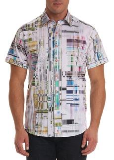 Robert Graham Men's Paracels Classic Fit Geometric-Pattern Short-Sleeve Sport Shirt