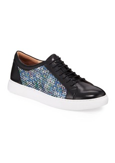 Robert Graham Men's Petro Printed Leather Lace-Up Sneakers