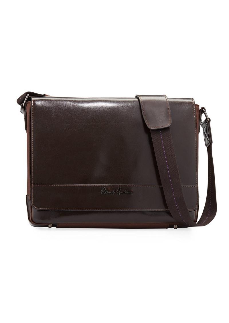 Robert Graham Men's Rallis Glossy Leather Messenger Bag