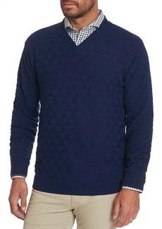 Robert Graham Men's Randie Diamond-Knit Wool Sweater
