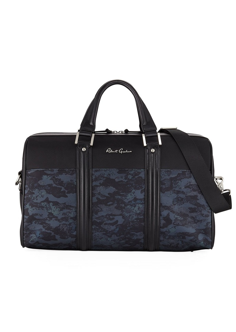 Robert Graham Men's Reavy Mixed Media Weekender Duffel Bag