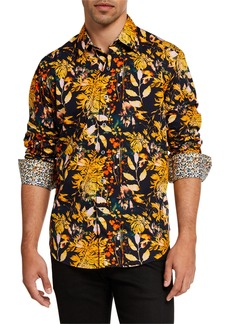 Robert Graham Men's Riderwood Foliage-Print Sport Shirt