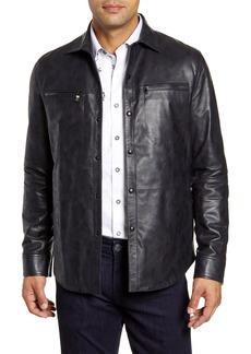 Men's Robert Graham Gable Regular Fit Embossed Leather Shirt Jacket