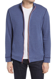 Men's Robert Graham Lion Zip Up Men's Knit Lounge Jacket