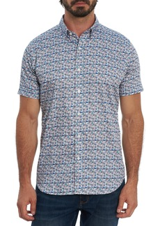 Robert Graham Medlocke Regular Fit Print Short Sleeve Button-Up Shirt