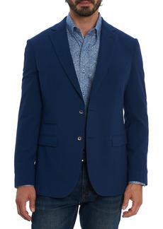 Men's Big & Tall Robert Graham Stella Solid Seersucker Cotton Blend Sport Coat