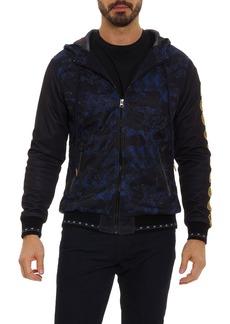 Men's Robert Graham X Marvel Vibranium Zip Front Hoodie