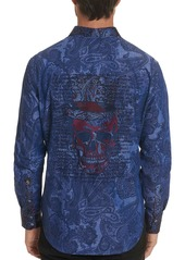 Robert Graham Men's Rockin' Bones Paisley Graphic Sport Shirt