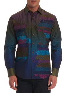Robert Graham Men's Roos Limited Edition Nebula-Pattern Classic Fit Sport Shirt