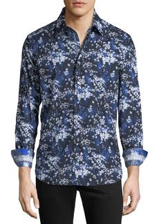 Robert Graham Men's Rosecrans Floral-Print Woven Sport Shirt